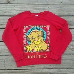 Disney Lion King Sweatshirt youth Sz Large Red